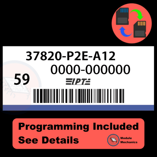 37820-P2E-A12 ECU with PROGRAMMING - VIN & Security   Honda Civic   ECM PCM Engine Control Computer OEM