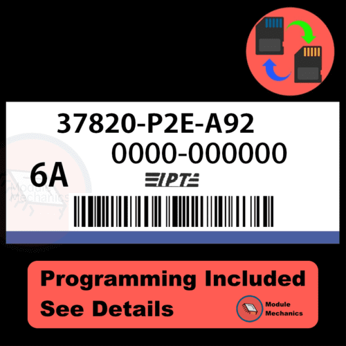 37820-P2E-A92 ECU with PROGRAMMING - VIN & Security | Honda Civic | ECM PCM Engine Control Computer OEM