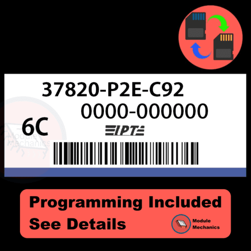 37820-P2E-C92 ECU with PROGRAMMING - VIN & Security   Honda Civic   ECM PCM Engine Control Computer OEM
