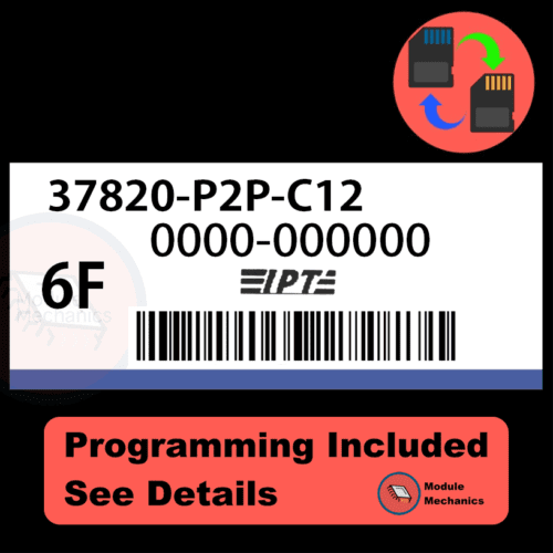 37820-P2P-C12 ECU with PROGRAMMING - VIN & Security | Honda Civic | ECM PCM Engine Control Computer OEM