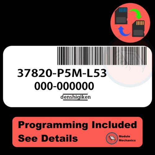 37820-P5M-L53 ECU with PROGRAMMING - VIN & Security   Honda Prelude   ECM PCM Engine Control Computer OEM