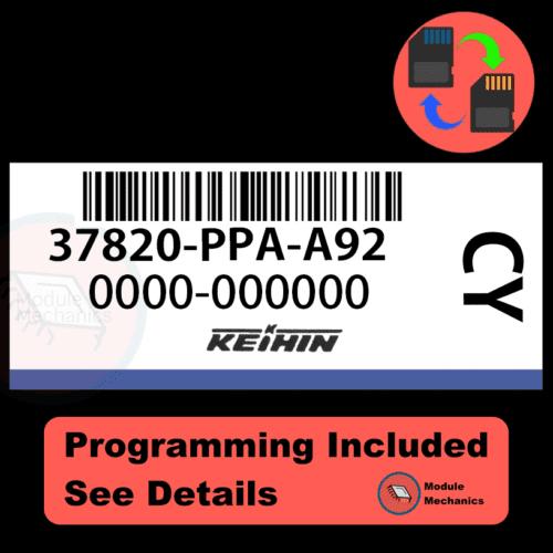 37820-PPA-A92 ECU with PROGRAMMING - VIN & Security | Honda CRV | ECM PCM Engine Control Computer OEM