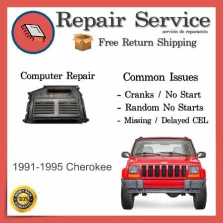 1991-1995 Jeep Cherokee Engine Computer ECU Repair Service