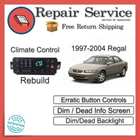 1997-2004 Buick Regal Climate Control Repair Service