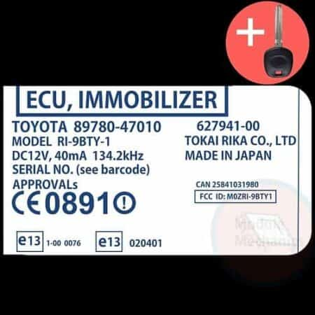 Check out our replacement OEM ECU immobilizer theft device with included programmed master key! Compatible: 2001-2003 Toyota Prius OEM Part Number:89780-47010 | 8978047010 | 627941-00 | RI9BTY-1 (See description for more details)