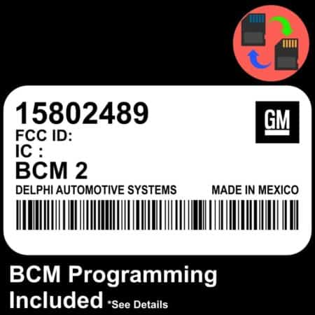 15802489 W/ PROGRAMMING Chevrolet Colorado BCM BCU Body Control Module
