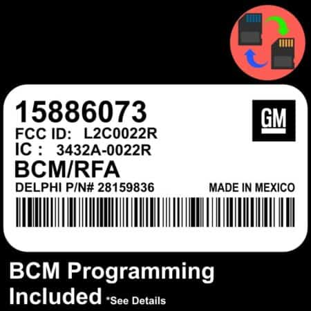 15886073 W/ PROGRAMMING Chevrolet Colorado BCM BCU Body Control Module