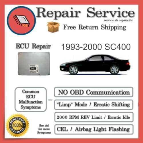 1993-2000 Lexus SC400 Engine Computer ECU Repair Service
