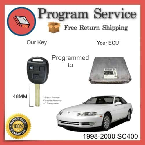 1998-2000 Lexus SC400 ECU to Key Programming Service