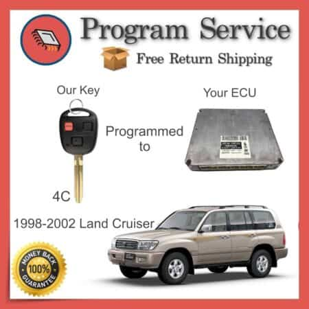 1998-2002 Toyota Land Cruiser ECU to Key Programming Service