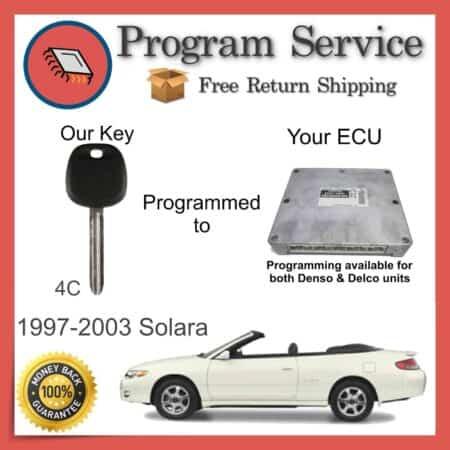 1998-2003 Toyota Solara Engine ECU to Key Programming Service