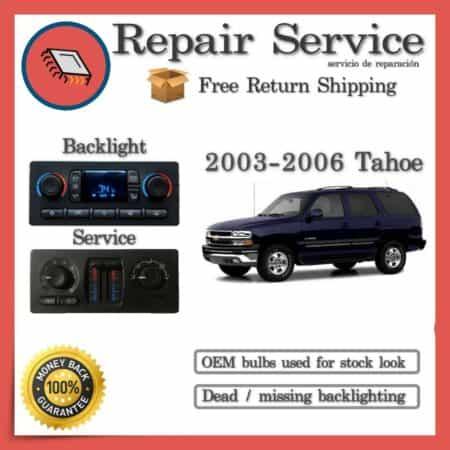 2003-2006 Chevrolet Tahoe Climate Control Repair Service