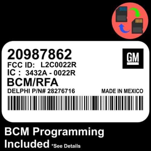 20987862 W/ PROGRAMMING Chevrolet Colorado BCM BCU Body Control Module