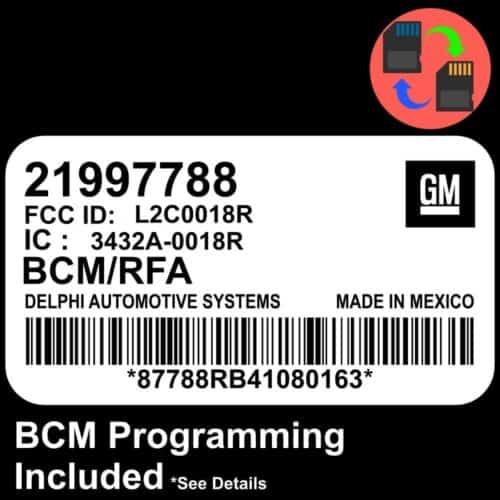 21997788 W/ PROGRAMMING Chevrolet Colorado BCM BCU Body Control Module