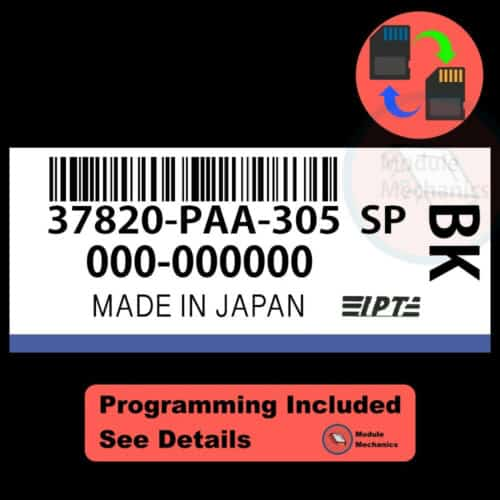 37820-PAA-305 ECU W/ Immobilizer / Security Programming Honda Accord