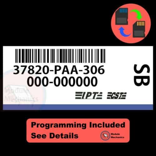 37820-PAA-306 ECU W/ Immobilizer / Security Programming Honda Accord
