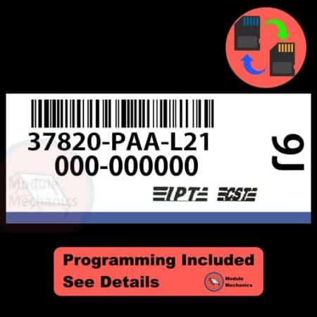 37820-PAA-L21 ECU W/ Immobilizer / Security Programming Honda Accord