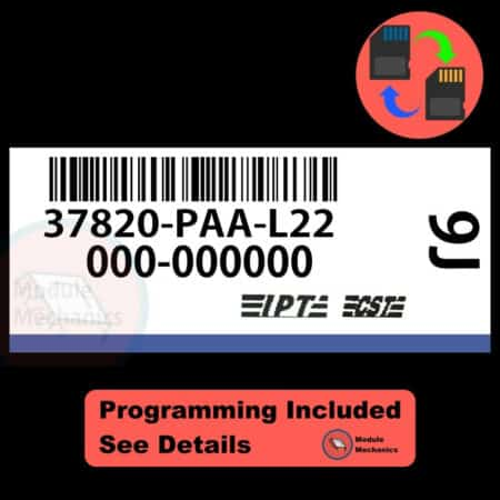 37820-PAA-L22 ECU W/ Immobilizer / Security Programming Honda Accord
