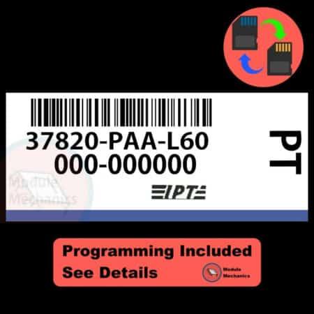 37820-PAA-L60 ECU W/ Immobilizer / Security Programming Honda Accord