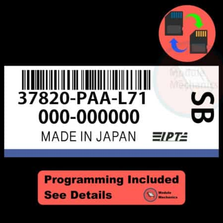 37820-PAA-L71 ECU W/ Immobilizer / Security Programming Honda Accord