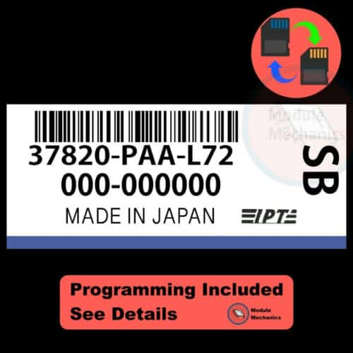 37820-PAA-L72 ECU W/ Immobilizer / Security Programming Honda Accord