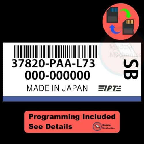 37820-PAA-L73 ECU W/ Immobilizer / Security Programming Honda Accord