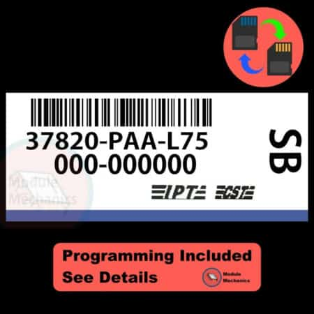 37820-PAA-L75 ECU W/ Immobilizer / Security Programming Honda Accord