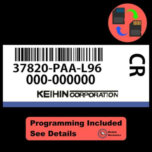 37820-PAA-L96 ECU W/ Immobilizer / Security Programming Honda Accord