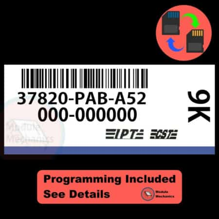 37820-PAB-A52 ECU W/ Immobilizer / Security Programming Honda Accord