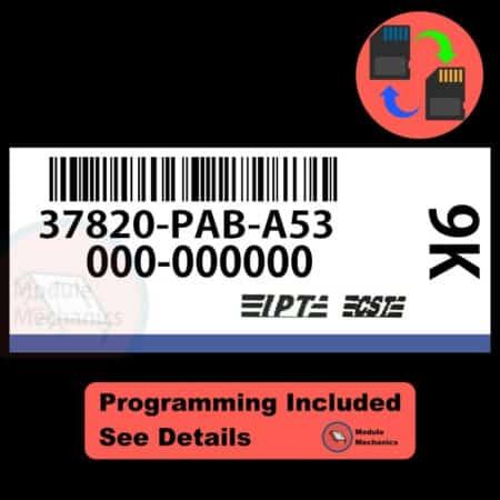 37820-PAB-A53 ECU W/ Immobilizer / Security Programming Honda Accord
