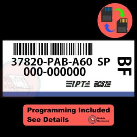 37820-PAB-A60 ECU W/ Immobilizer / Security Programming Honda Accord