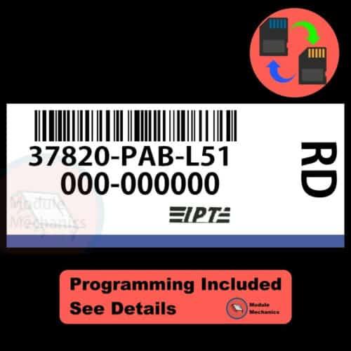 37820-PAB-L51 ECU W/ Immobilizer / Security Programming Honda Accord