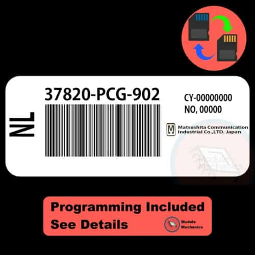 37820-PCG-902 ECU W/ Immobilizer / Security Programming Honda Accord
