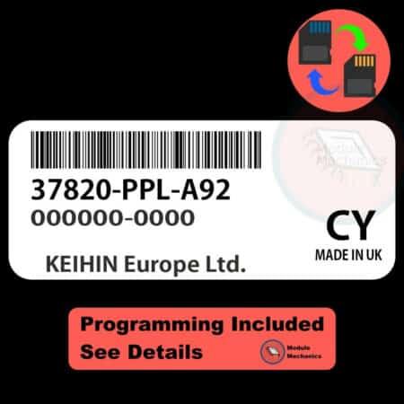 37820-PPL-A92 ECU W/ Immobilizer / Security Programming Honda CR-V