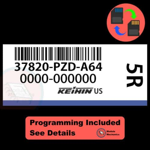 37820-PZD-A64 OEM ECU W/ Immobilizer / Security Programming Honda Element