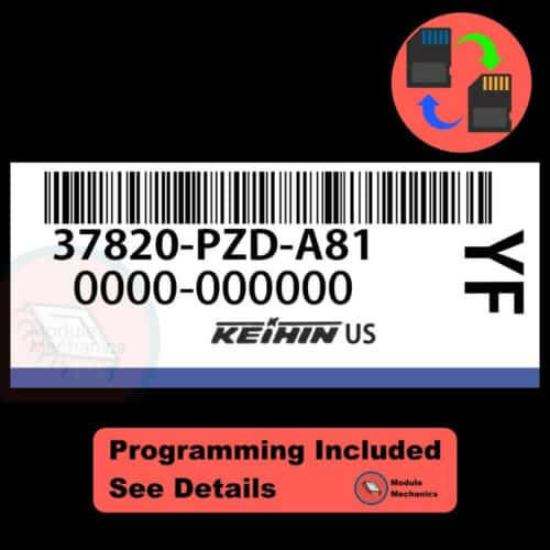 37820-PZD-A81 OEM ECU W/ Immobilizer / Security Programming Honda Element
