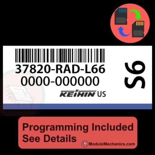 37820-RAD-L66 ECU W/ Immobilizer / Security Programming Honda Accord