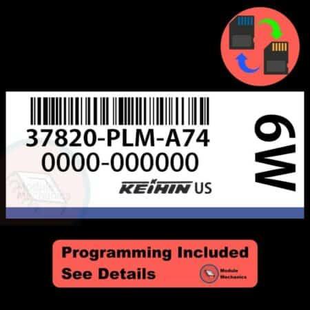 37820-PLM-A74 OEM ECU W/ Immobilizer / Security Programming Honda Civic