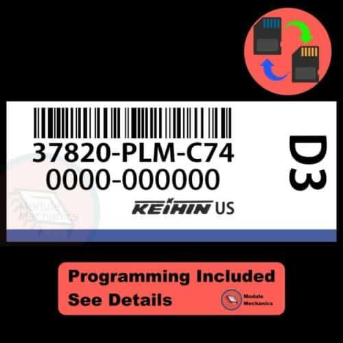 37820-PLM-C74 OEM ECU W/ Immobilizer / Security Programming Honda Civic