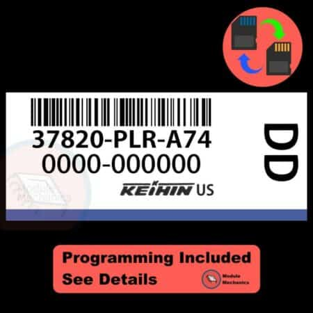 37820-PLR-A74 OEM ECU W/ Immobilizer / Security Programming Honda Civic