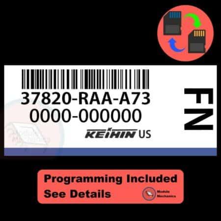 37820-RAA-A73 ECU W/ Immobilizer / Security Programming Honda Accord