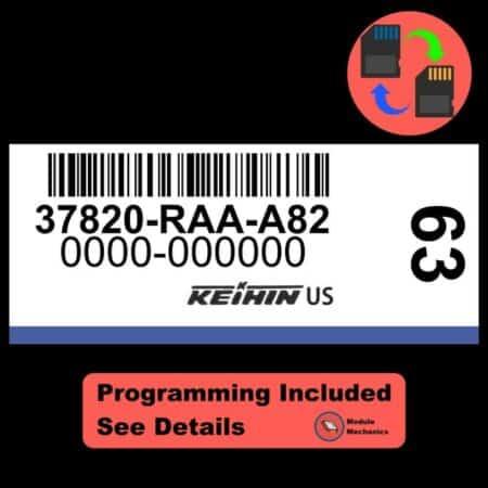 37820-RAA-A82 ECU W/ Immobilizer / Security Programming Honda Accord