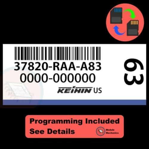 37820-RAA-A83 ECU W/ Immobilizer / Security Programming Honda Accord