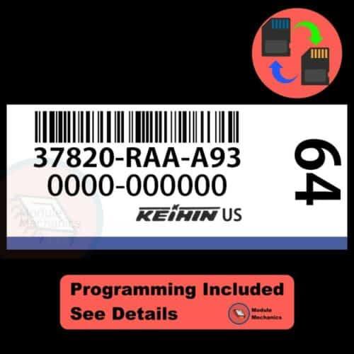 37820-RAA-A93 ECU W/ Immobilizer / Security Programming Honda Accord