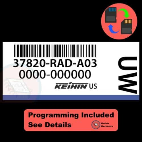 37820-RAD-A03 ECU W/ Immobilizer / Security Programming Honda Accord