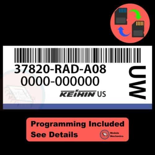 37820-RAD-A08 ECU W/ Immobilizer / Security Programming Honda Accord