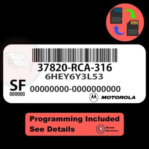 37820-RCA-316 ECU W/ Immobilizer / Security Programming Honda Accord