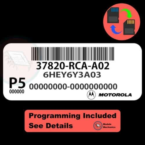 37820-RCA-A02 ECU W/ Immobilizer / Security Programming Honda Accord