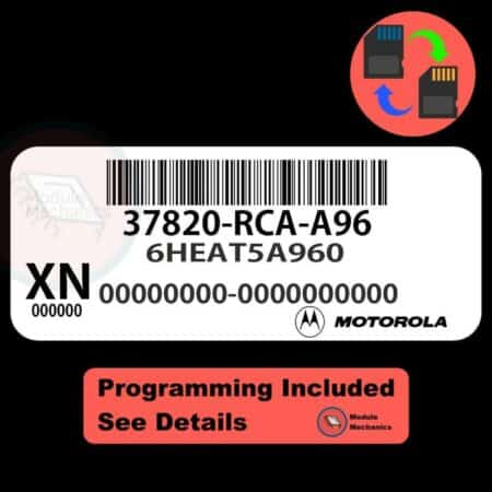 37820-RCA-A96 ECU W/ Immobilizer / Security Programming Honda Accord