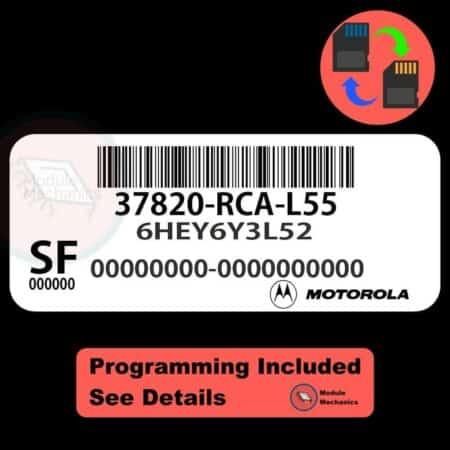37820-RCA-L55 ECU W/ Immobilizer / Security Programming Honda Accord